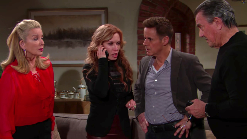 Y&R Lauren on Phone With Group - CBS