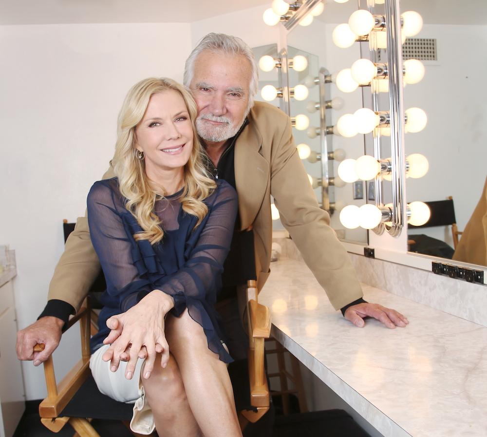 Katherine Kelly Lang & John McCook Backstage - JPI