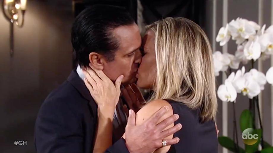 GH Sonny Carly Kiss - ABC