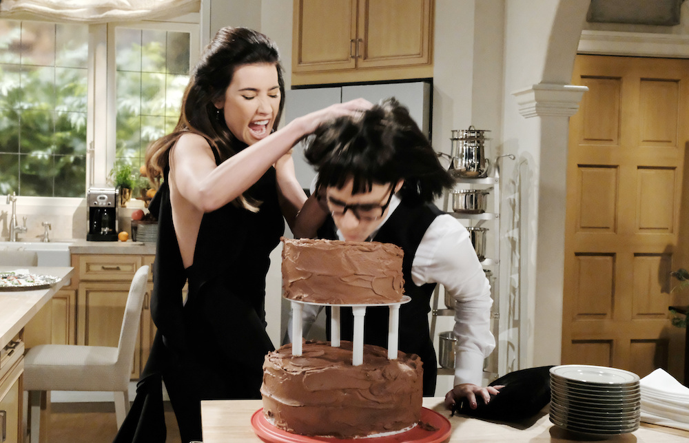 B&B Steffy and Sally Cake Fight - JPI
