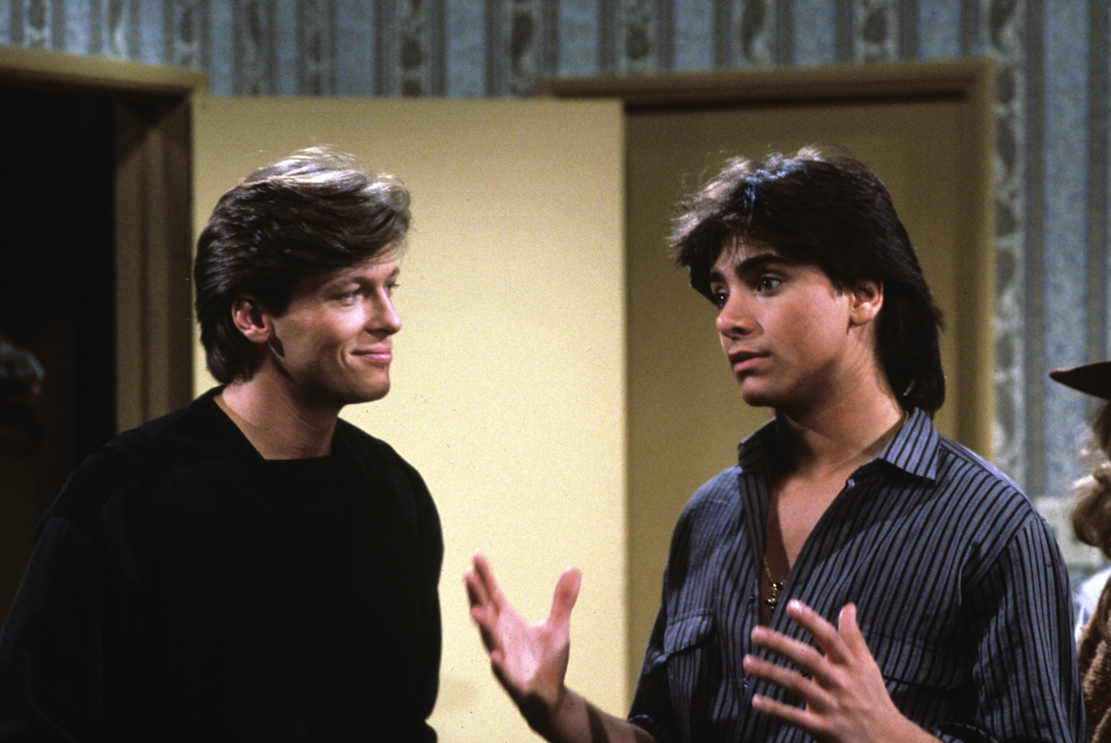 Jack Wagner and John Stamos on General Hospital - ABC/Getty