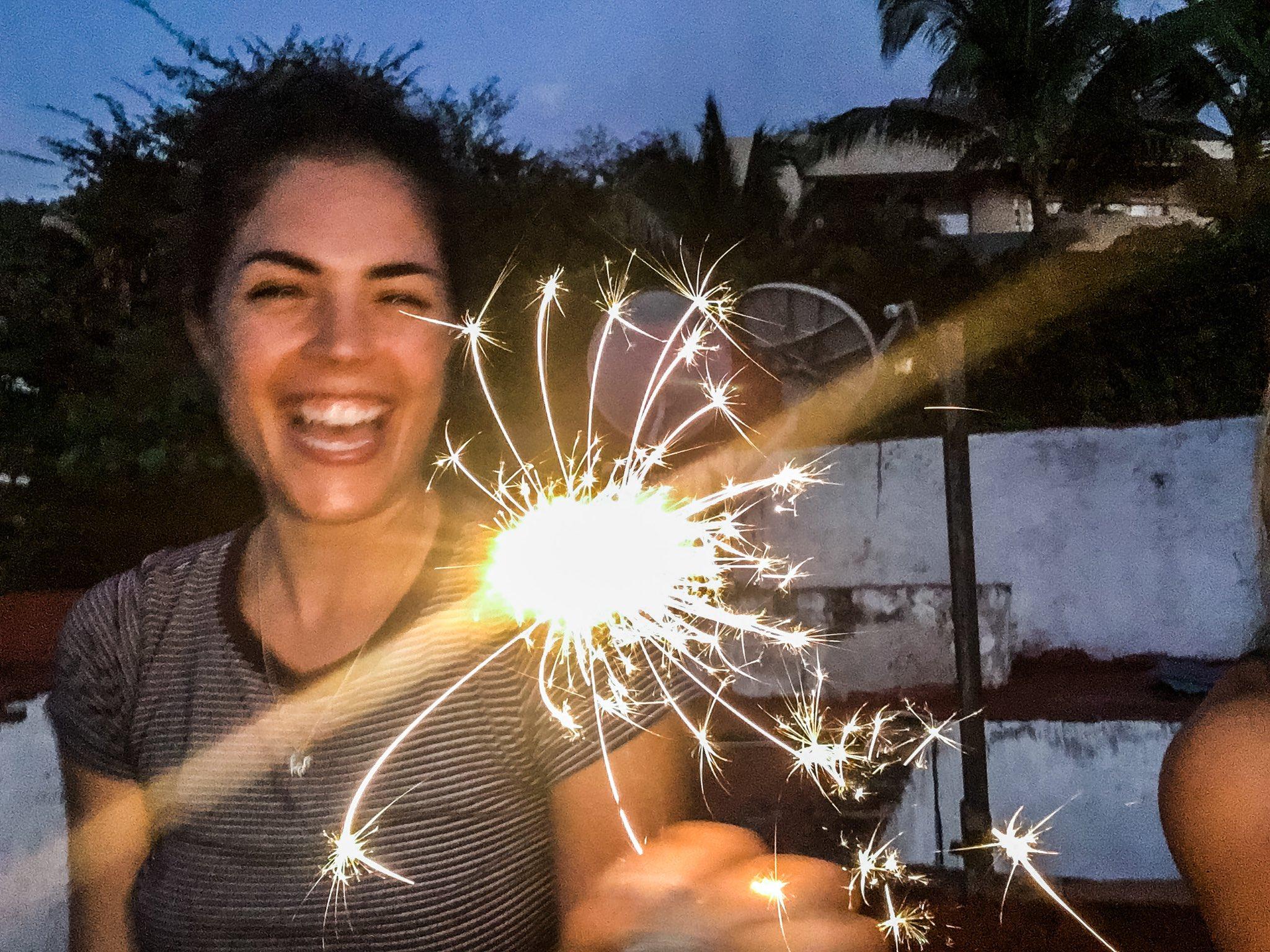 Kelly Thiebaud sparklers - Twitter