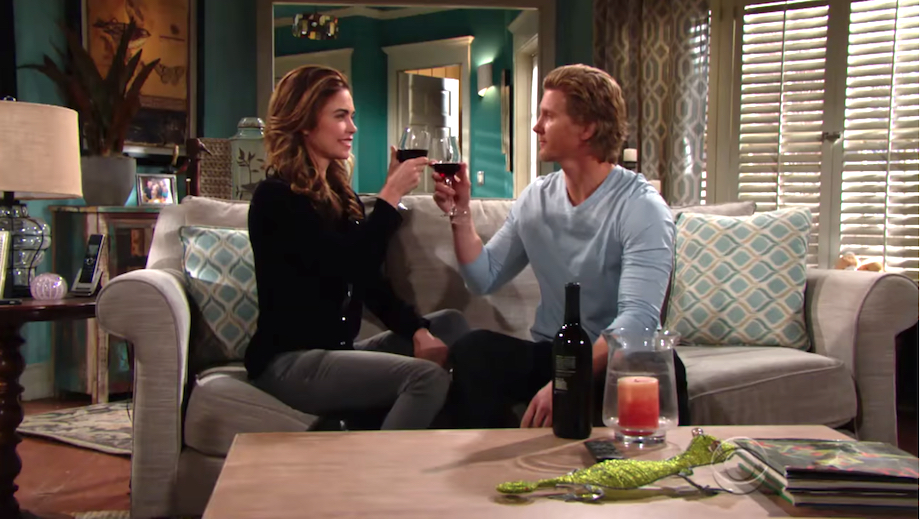 Y&R Victoria and JT toast - CBS