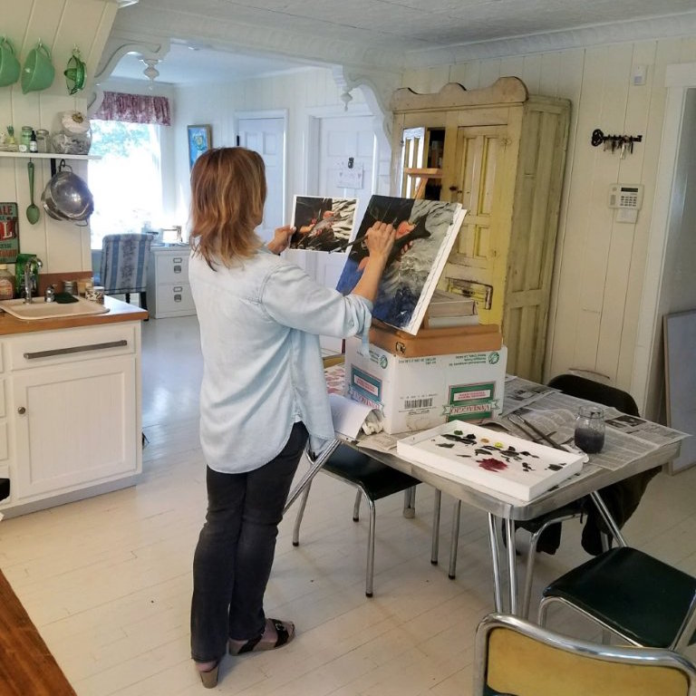 Genie Francis Painting at Home - Twitter