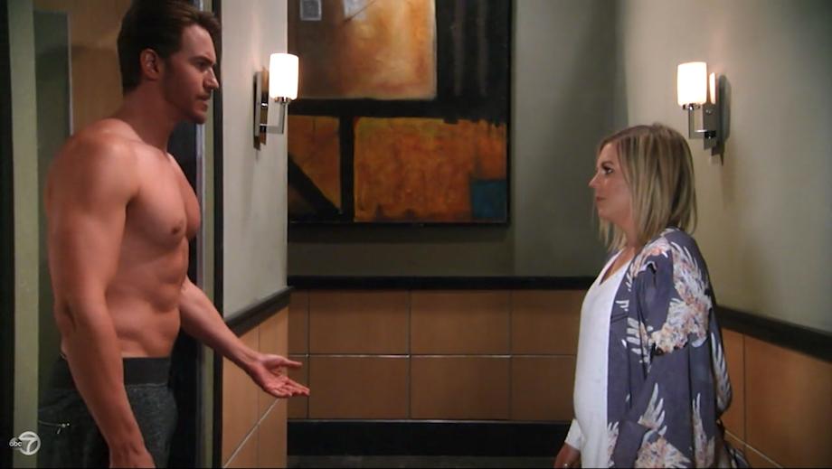 GH Shirtless Peter and Maxie - ABC