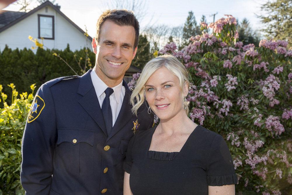 Cameron Mathison and Alison Sweeney in Murder She Baked - Crown Media