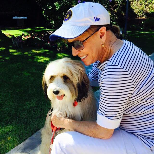 Leslie Charleson and Dog - Facebook