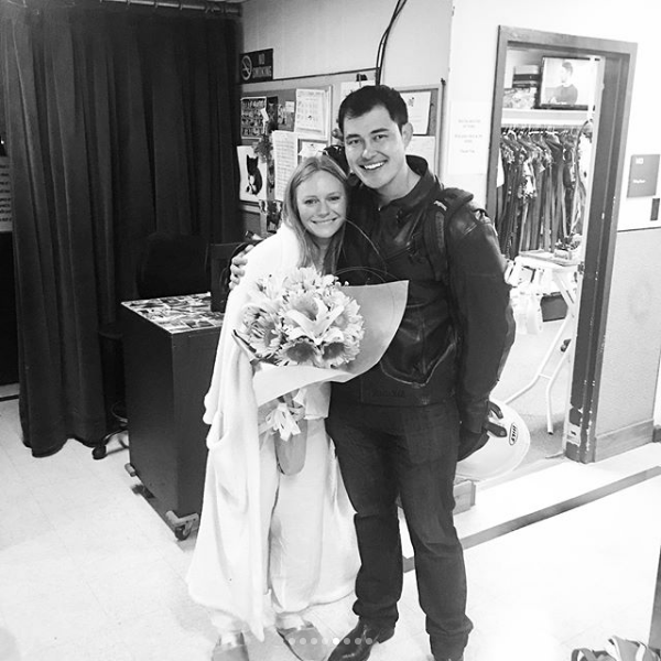 Marci Miller and Christopher Sean's Last Day at DAYS - Instagram