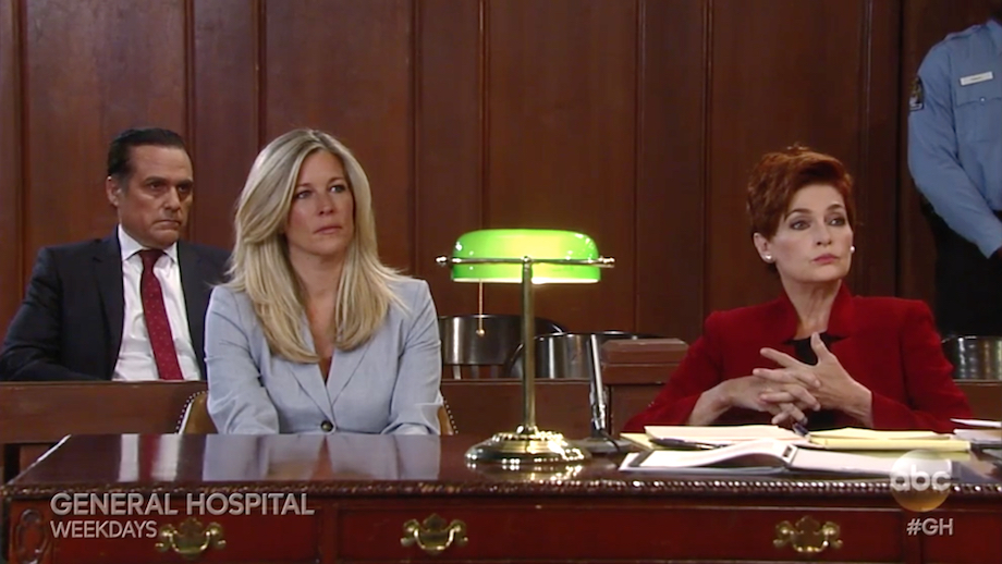 GH Sonny, Carly, and Diane in Court - ABC
