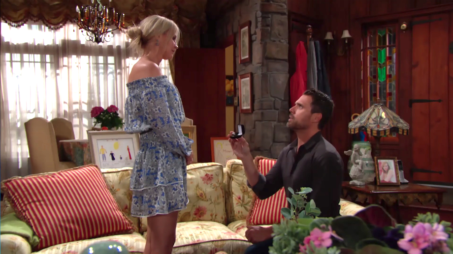 Y&R Sharon and Nick Proposal - CBS