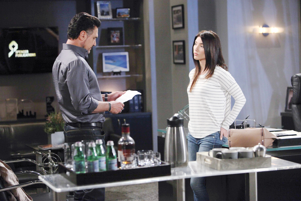 The Bold and The Beautiful Bill and Steffy deal