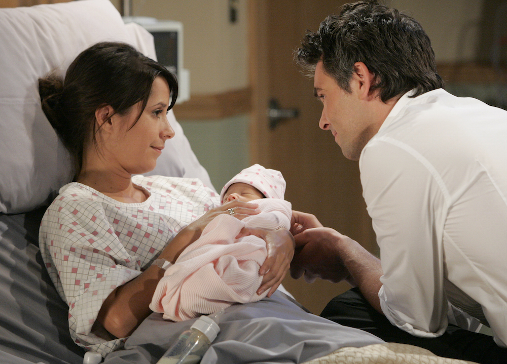 General Hospital Robin and Patrick and Baby Emma
