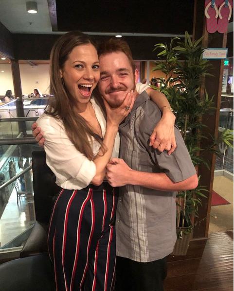 Dylan Cash and Tamara Braun reunion