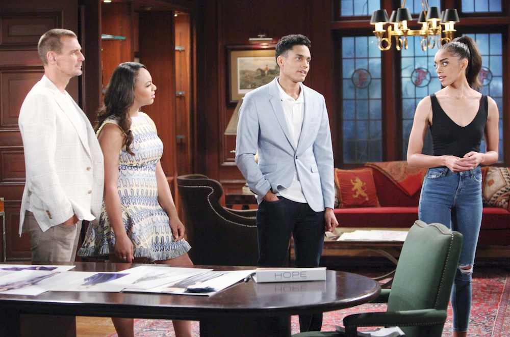 The Bold and The Beautiful Thorne, Emma, Xander, and Zoe