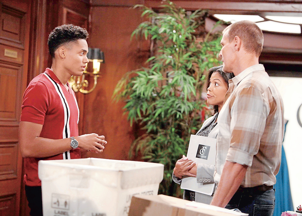 The Bold and The Beautiful Xander, Maya, and Thorne