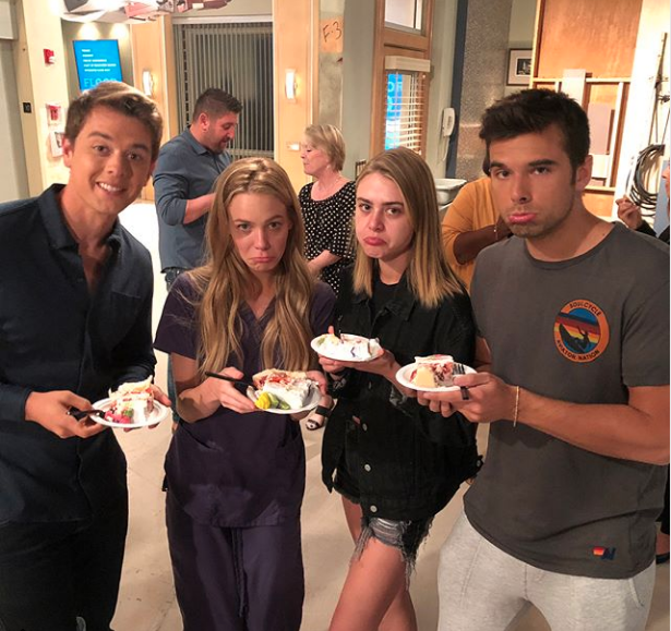 Chad Duell, Hayley Erin, and Josh Swickard Say Goodbye to Chloe Lanier
