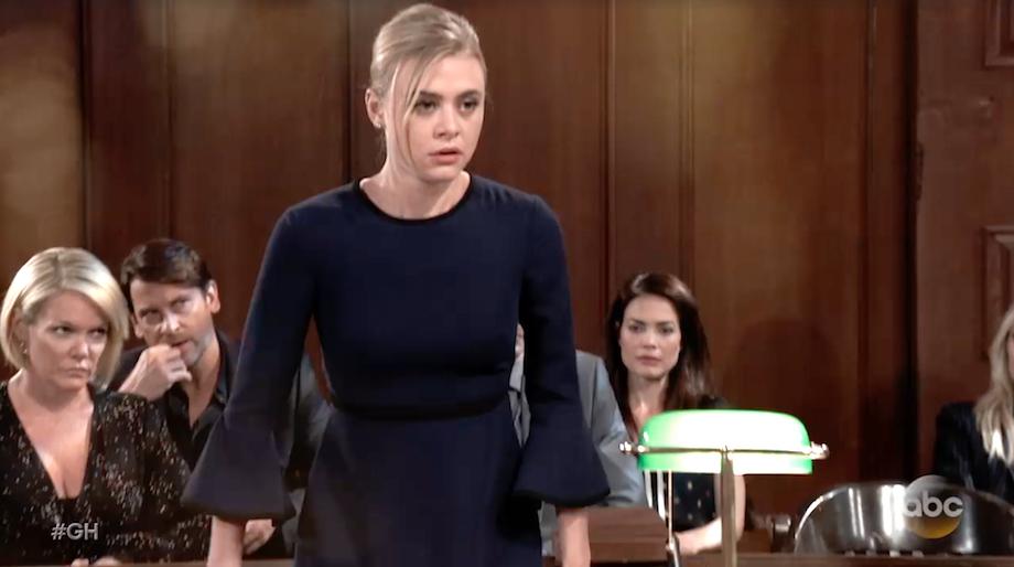 General Hospital Kiki Testifying in Court