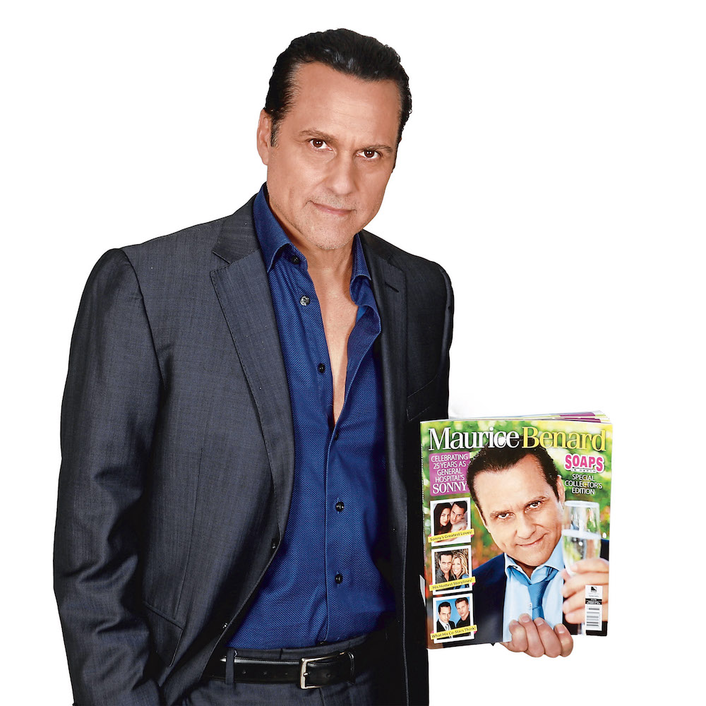 General Hospital Maurice Benard With Anniversary Book