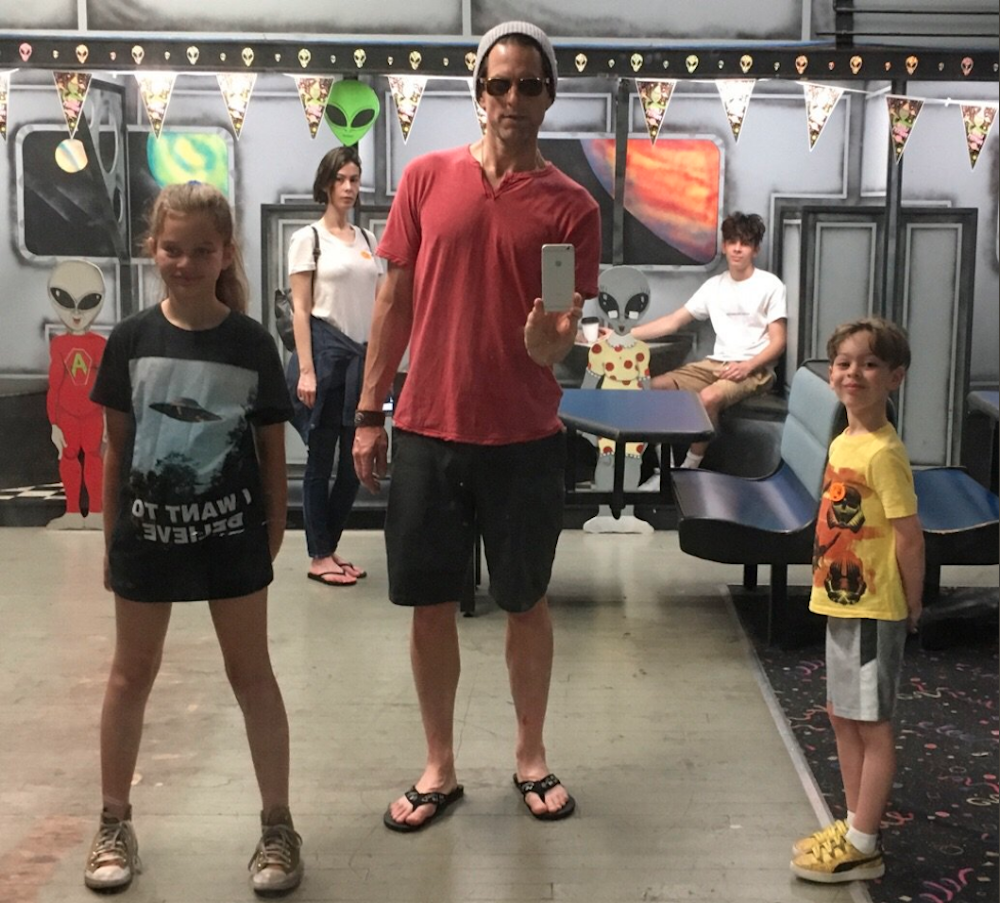 Michael Muhney family vacation