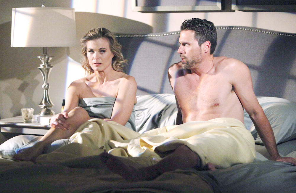 The Young and The Restless Phyllis and Nick in bed