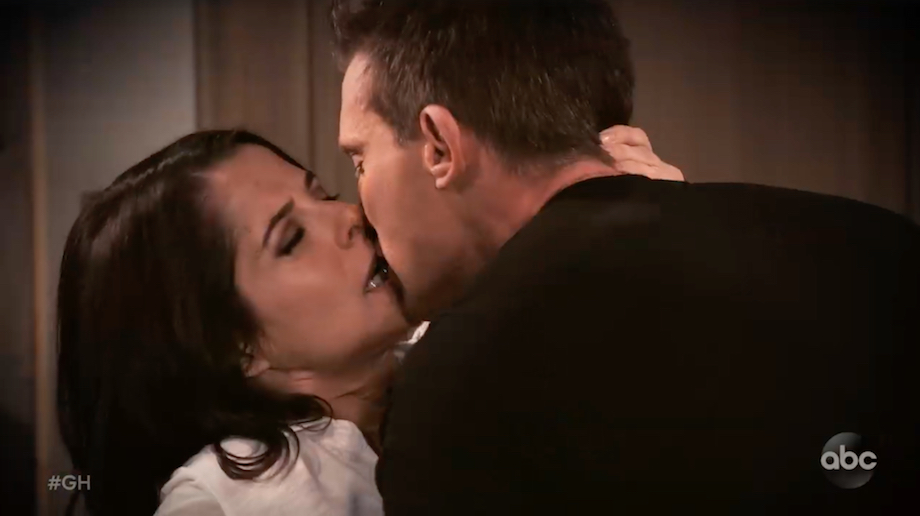General Hospital Sam Jason kiss
