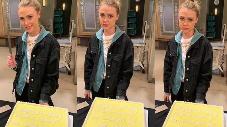 Hayley Erin Goodbye GH Cake