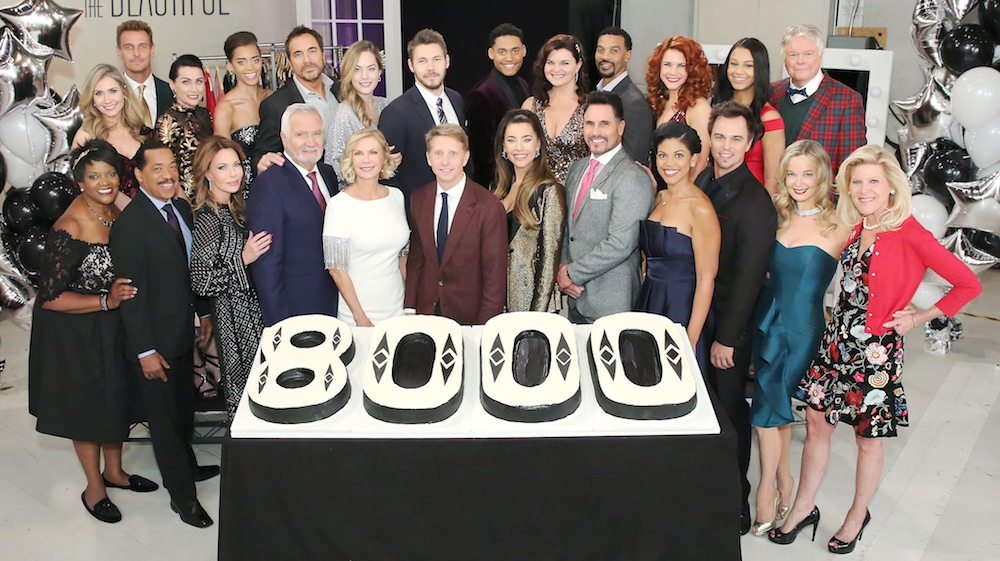 The Bold and The Beautiful cast 8000 episode