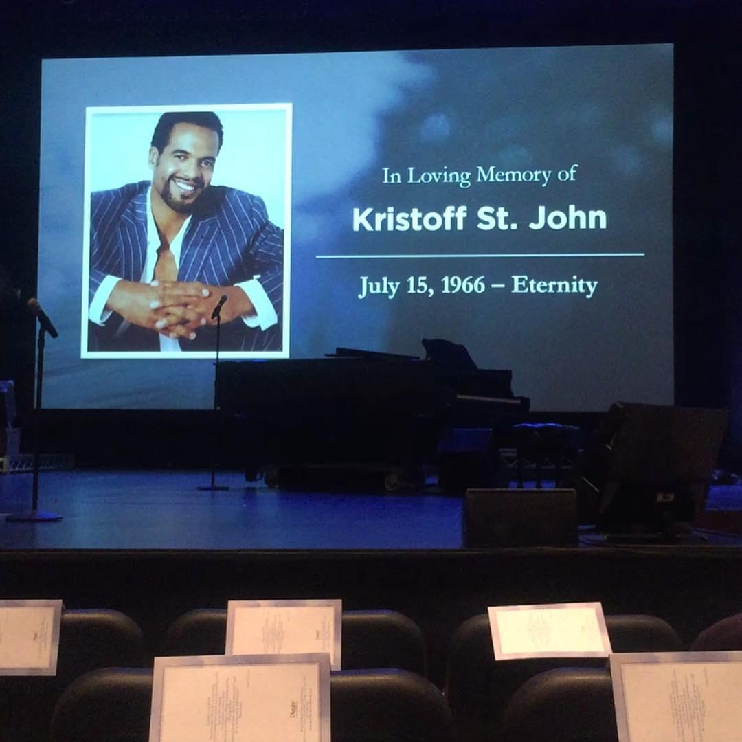 Kristoff St. John memorial service