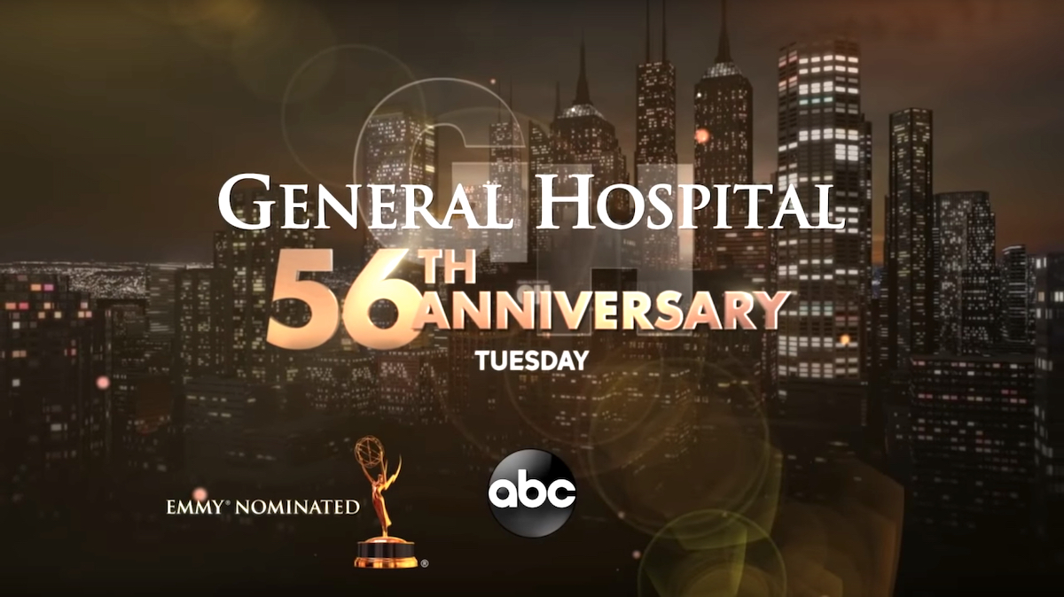 General Hospital 56th Anniversary title