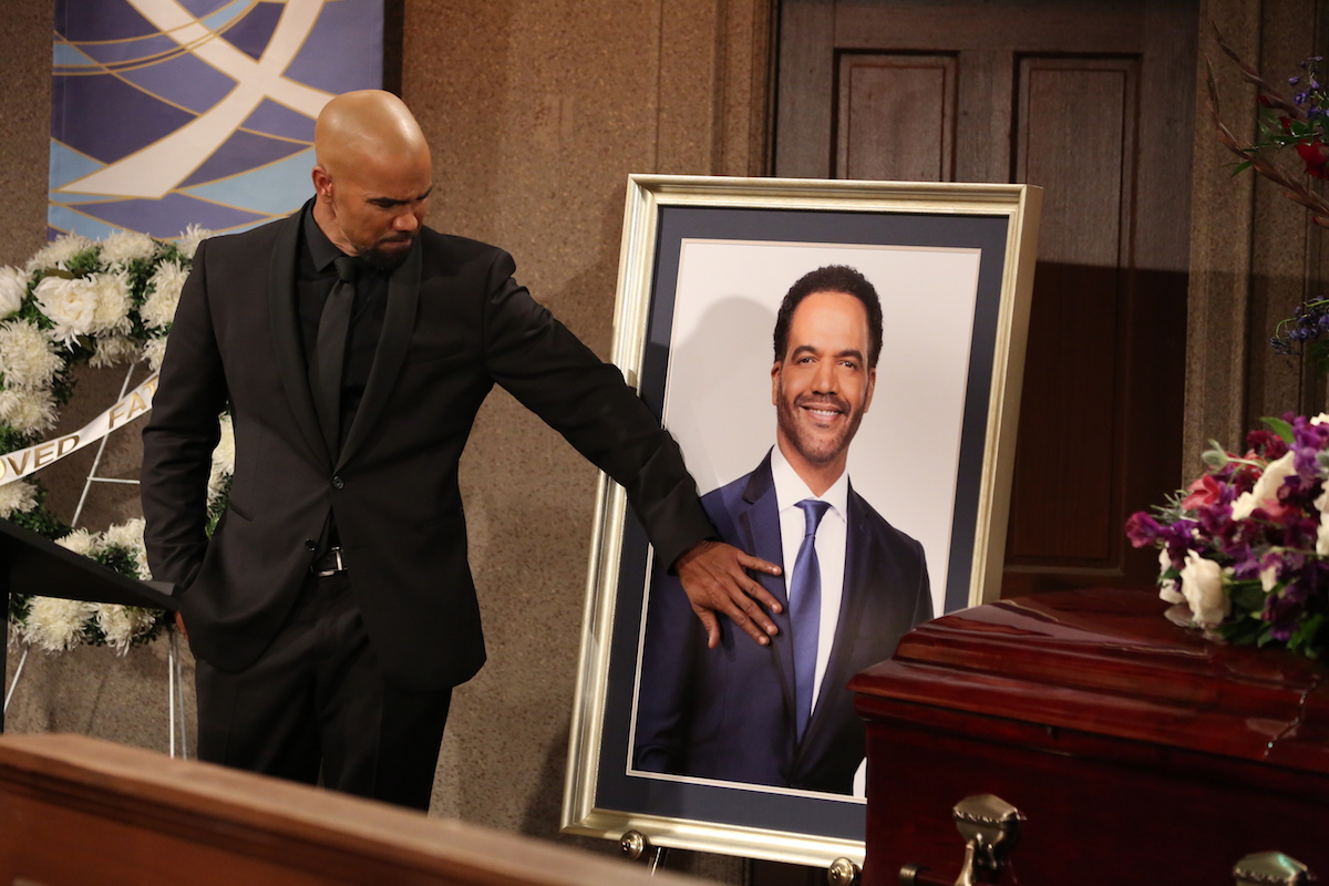 The Young and The Restless Malcolm at Neil's funeral
