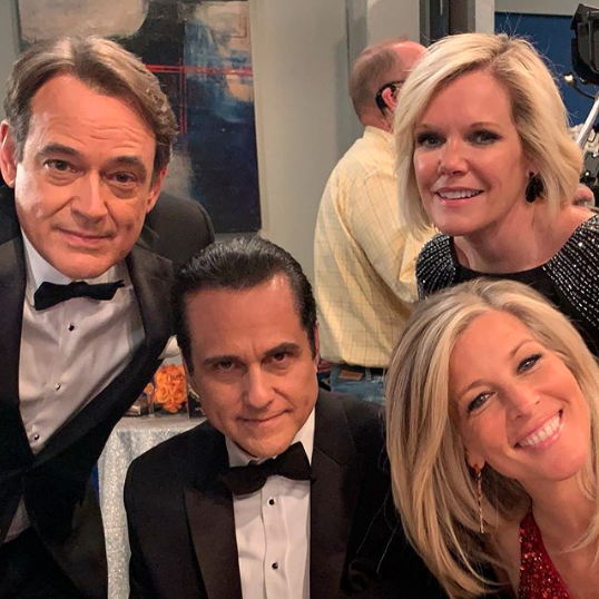 General Hospital Jon Lindstrom Maurice Benard Laura Wright Maura West