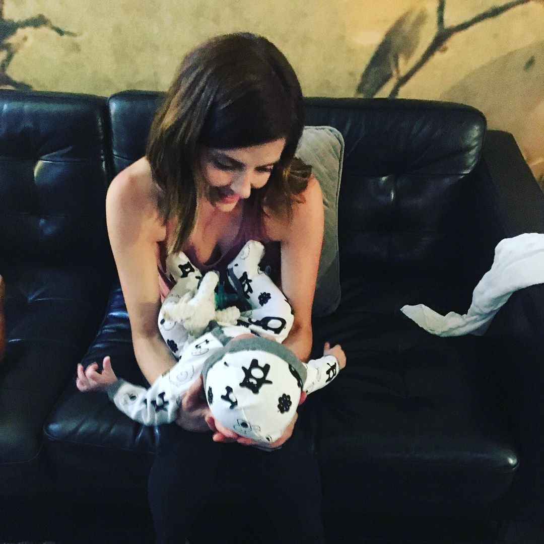 Jen Lilley and her foster son