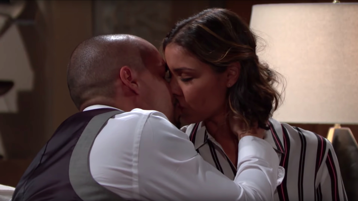 The Young and The Restless Devon Elena kiss