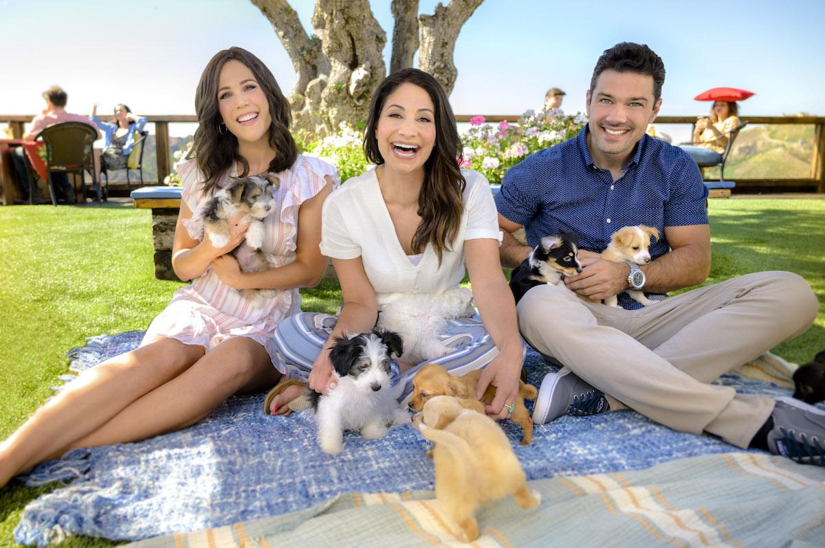 Erin Krakow Larissa Wohl Ryan Paevey puppies