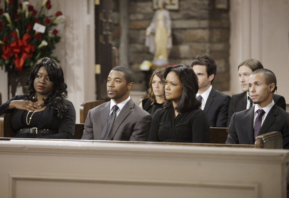 The Young and The Restless Nate at Cane's Funeral
