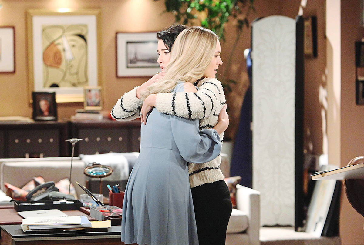 The Bold and The Beautiful Hope Steffy hug