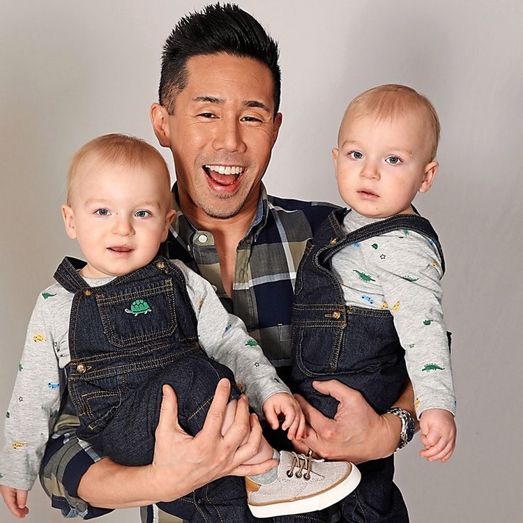 General Hospital Parry Shen Erik and Theo Olson